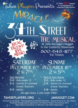 Tahoe Players Miracle on 34th Street the Musical