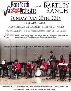 Reno Youth Jazz Orchestra Poster
