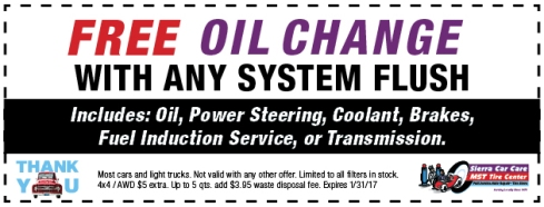 FREE Oil Change Coupon