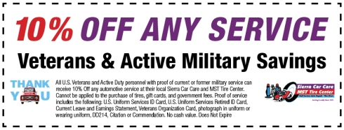 Veterans Save 10% OFF Any Service