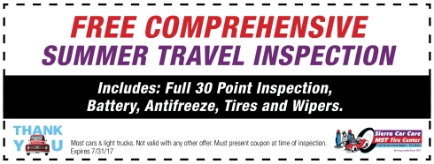 Free Comprehensive Summer Travel Inspection